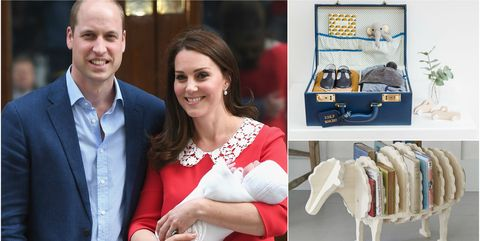 Kate Middleton and Prince William with the new royal baby / baby gifts
