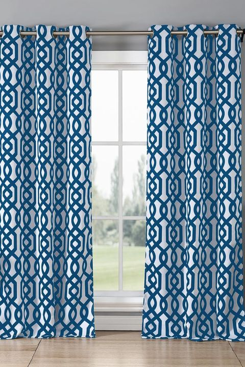 Curtain, Shower curtain, Turquoise, Blue, Aqua, Window treatment, Textile, Interior design, Window, Interior design,
