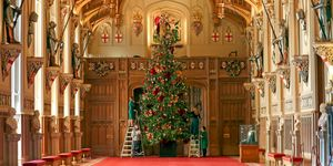 Christmas decorations at Windsor castle royal family