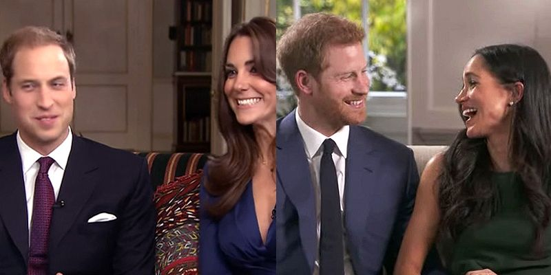 The 8 Differences Between The Two Royal Engagement Interviews Harry And Meghan Engagement Interview