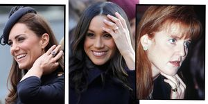 royal family engagement rings kate middleton meghan markle sarah ferguson