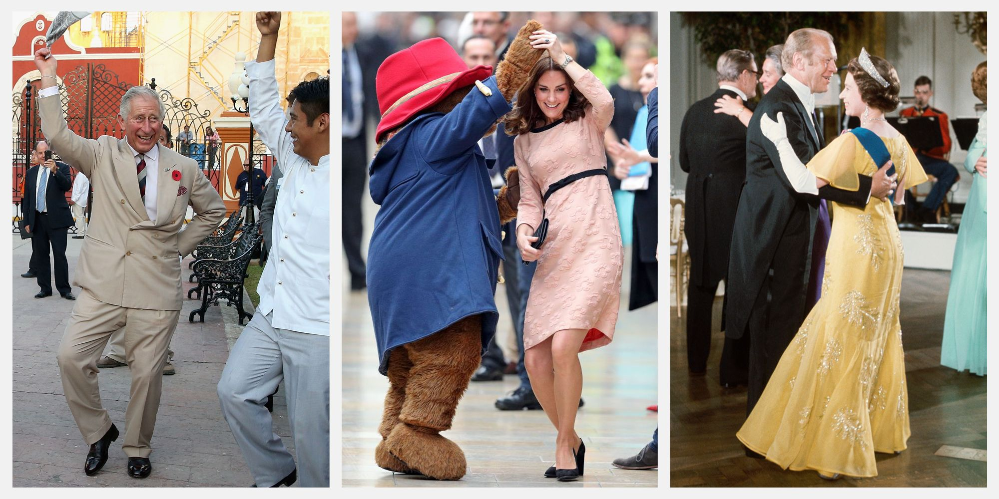 21 Photos of Queen Elizabeth, Kate Middleton, Prince Harry, and More Royal Family Members Dancing