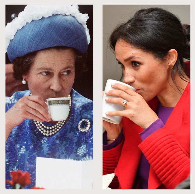 royal family drinking tea kate middleton sophie wessex queen elizabeth meghan markle