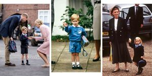 royal family, school, first day