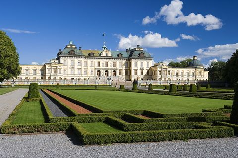 A photo of Drottningholm Palace in Sweden.