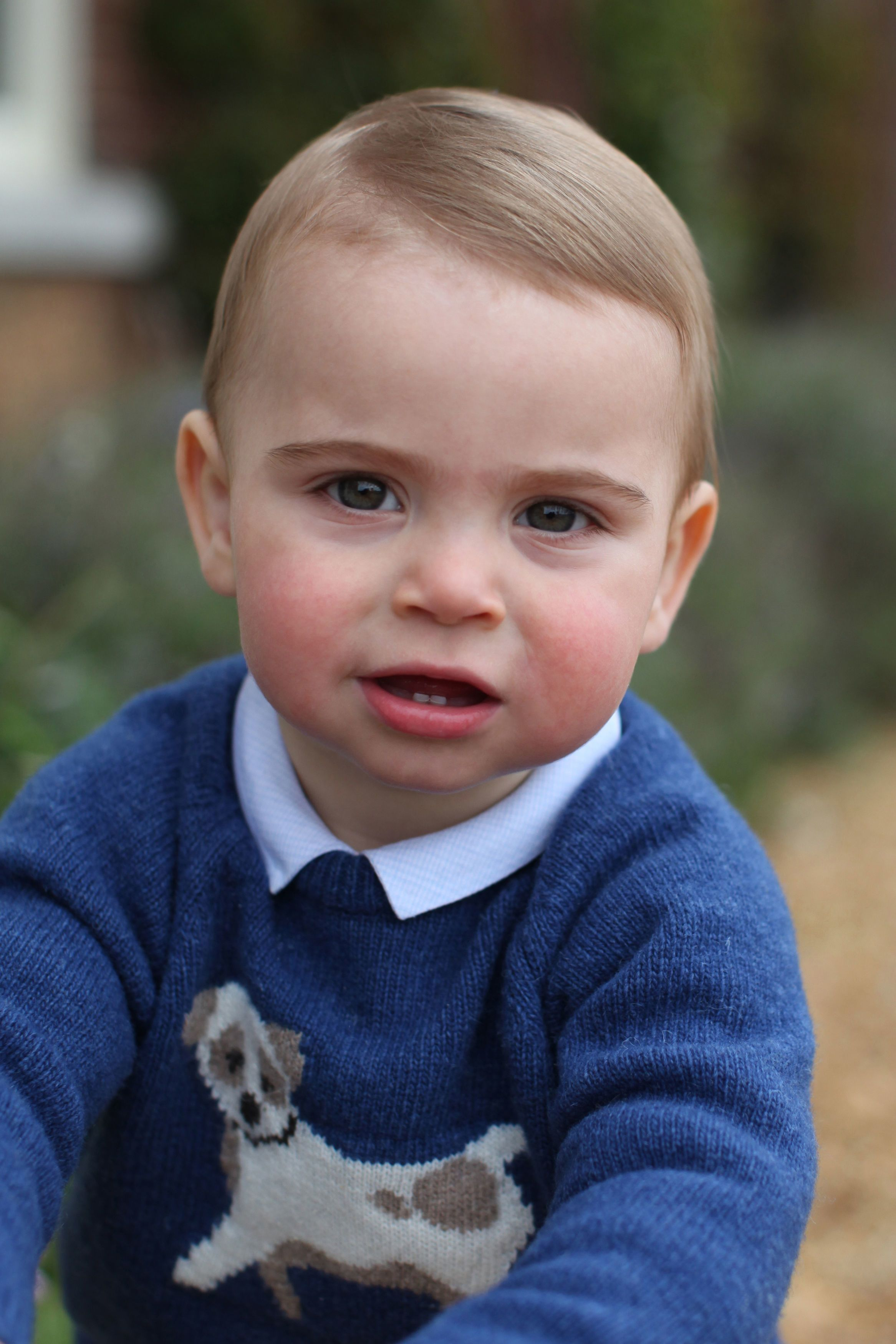 Prince Louis Shines in First Birthday Portraits Taken By Duchess Kate