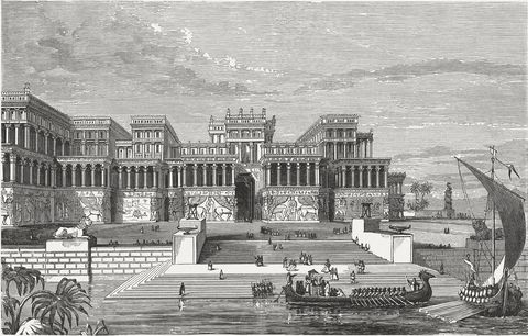 Royal palace in Nineveh, ancient city of the Assyrian empire