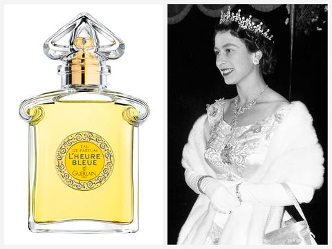 Queen Elizabeth reportedly wore Guerlain L'Heure Bleue as her personal fragrance.