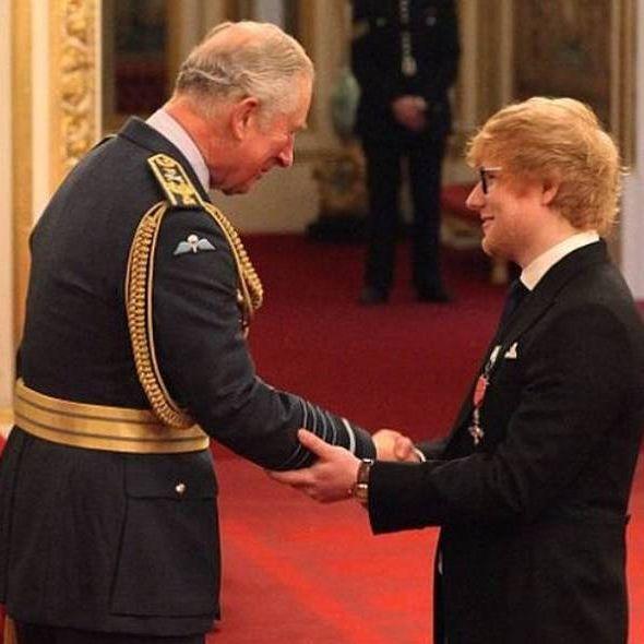 queen elizabeth donald trump prince charles ed sheeran