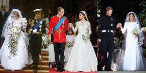 英國皇室婚禮, 梅根, 婚紗, 黛安娜王妃, 凱特王妃, Meghan Markle