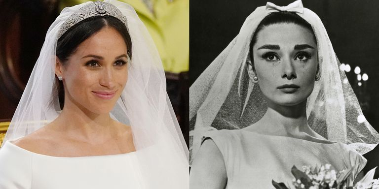 meghan markles givenchy wedding dress looks like audrey
