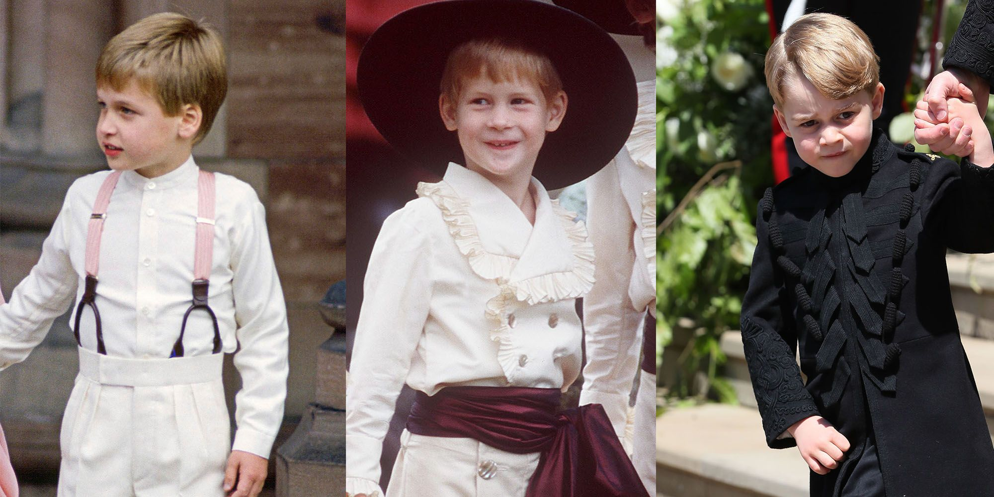 pictures Prince George Looks Exactly Like A Young WilliamHarry At Royal Wedding