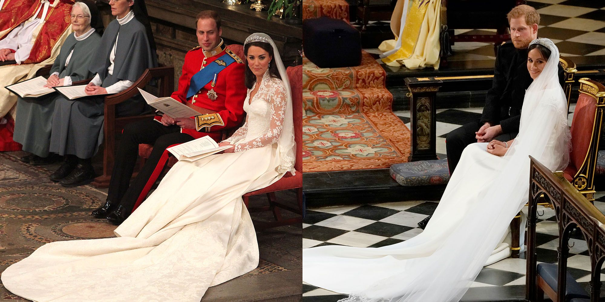 X times Harry and Meghan's wedding looked just like William and Kate's