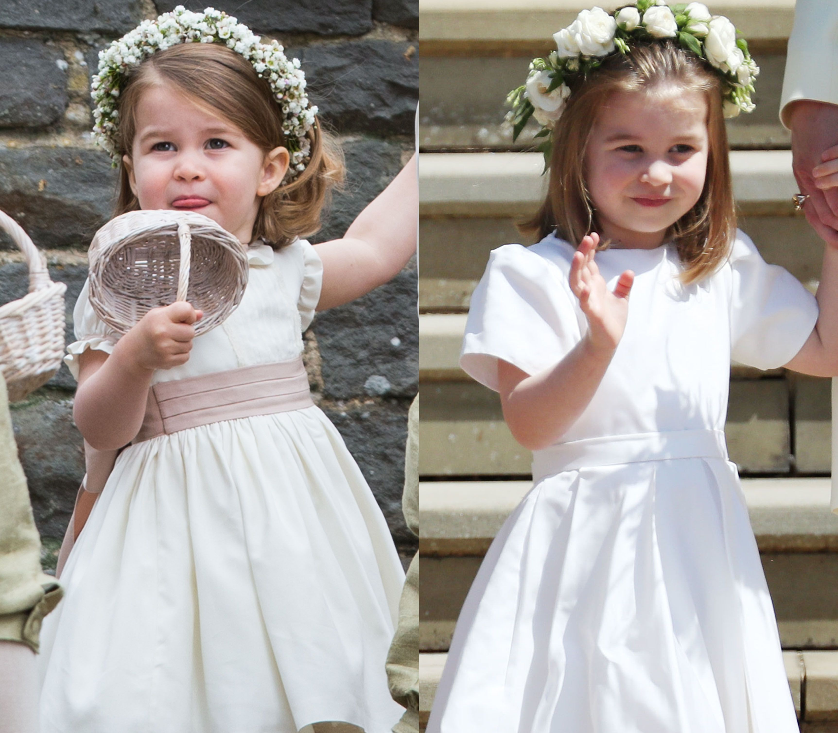 4ec69e7db29 Princess Charlotte Wore a Givenchy Dress for the Royal Wedding