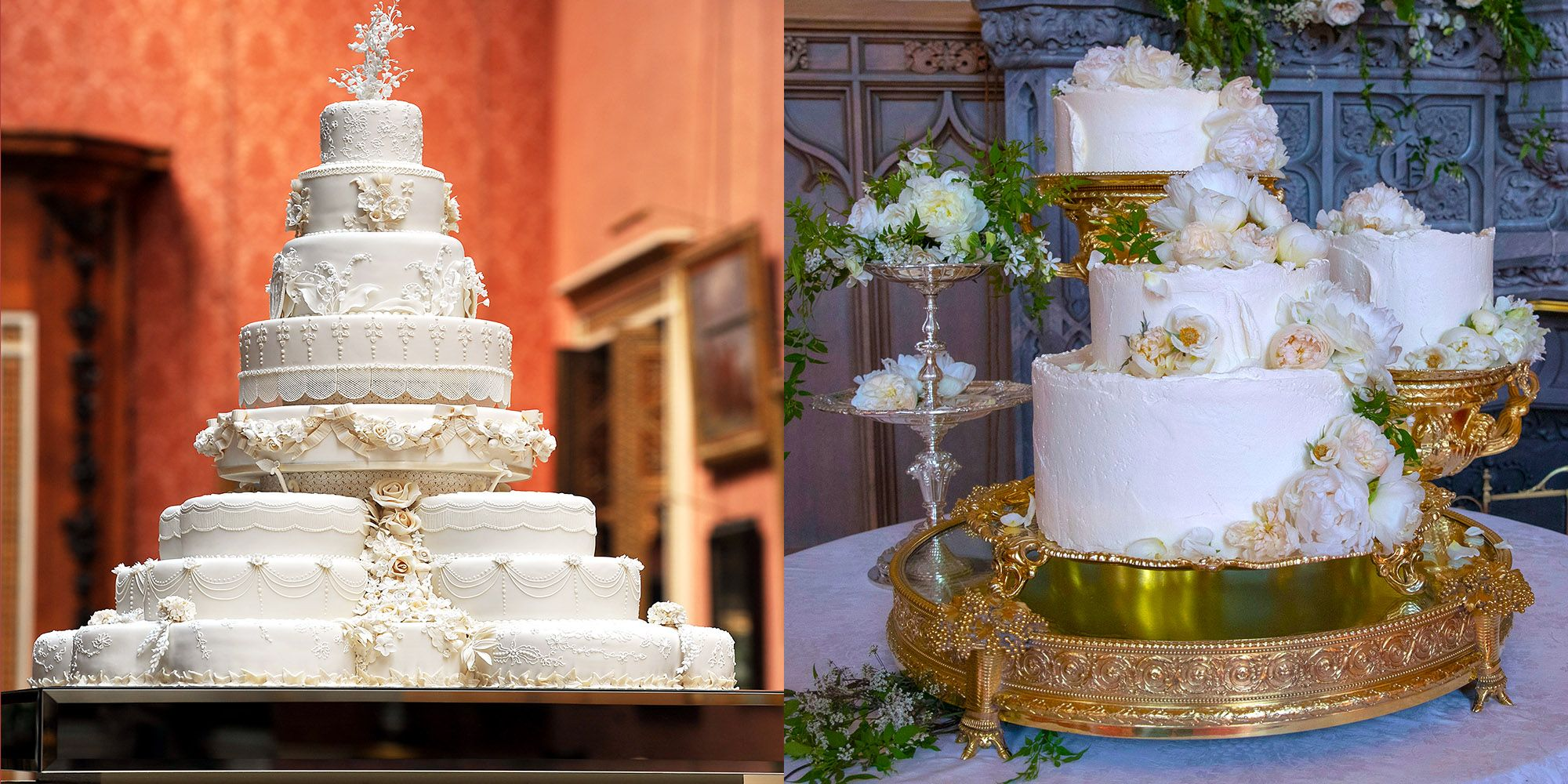 how meghan and harry s wedding cake compares to duchess kate and princess diana s wedding cake compares to duchess kate