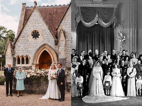 princess beatrice wedding dress comparison