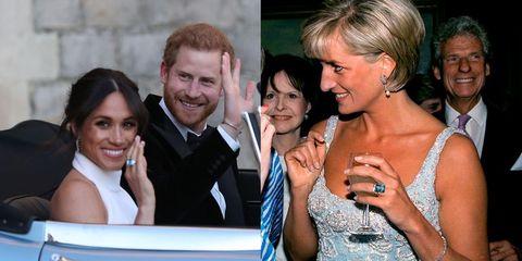 meghan markle princess diana ring