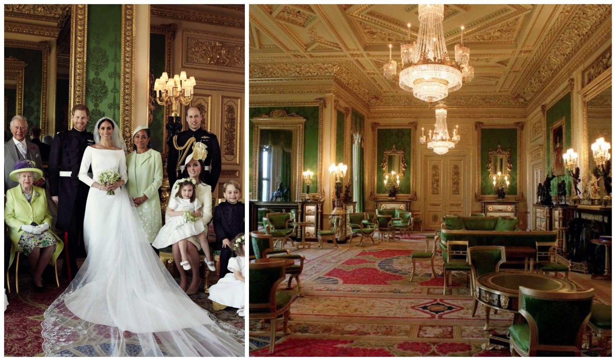 Windsor Castles Green Drawing Room