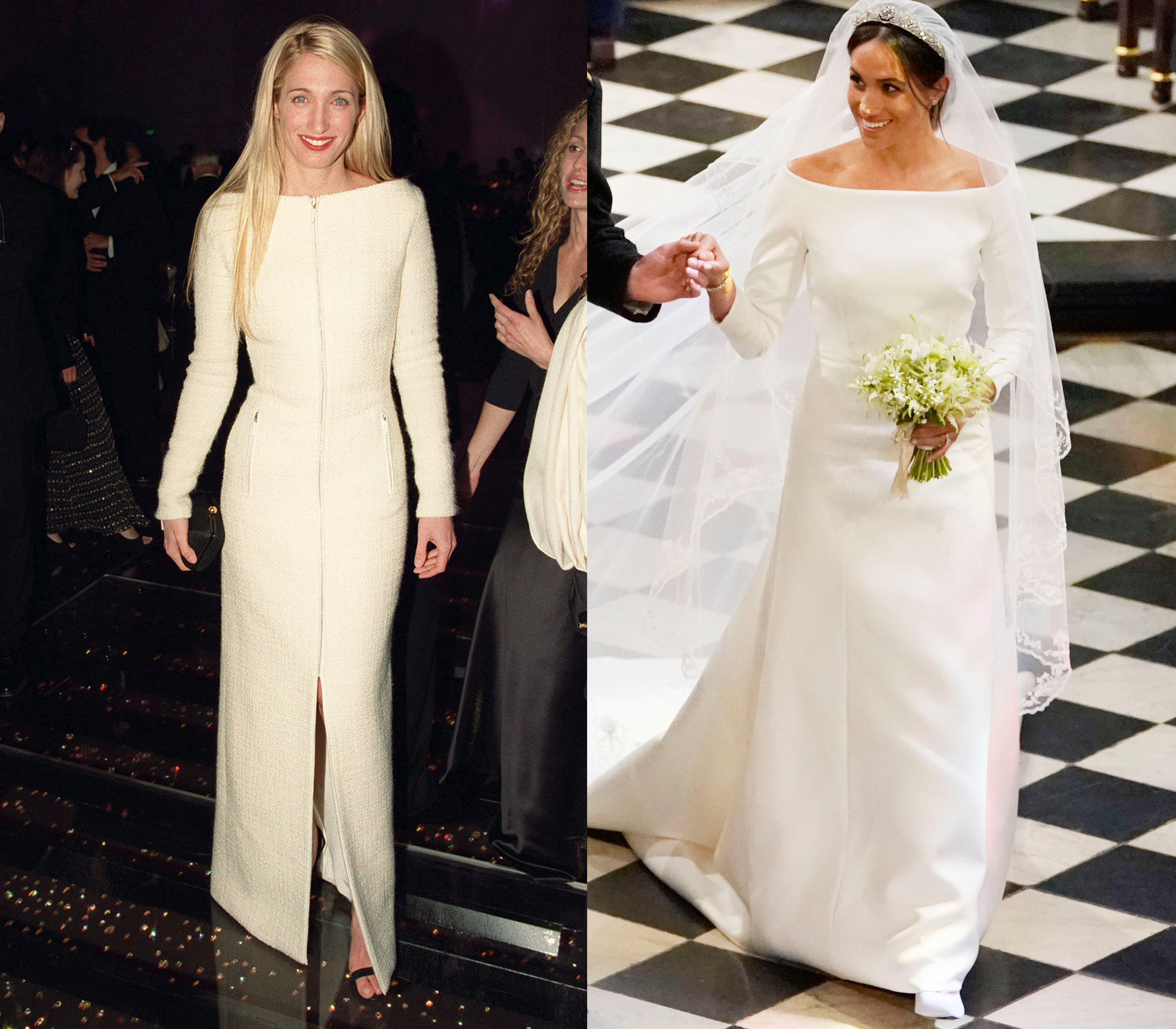 How meghan markles wedding dress pays tribute to carolyn bessette how meghan markles wedding dress pays tribute to carolyn bessette kennedy junglespirit Gallery