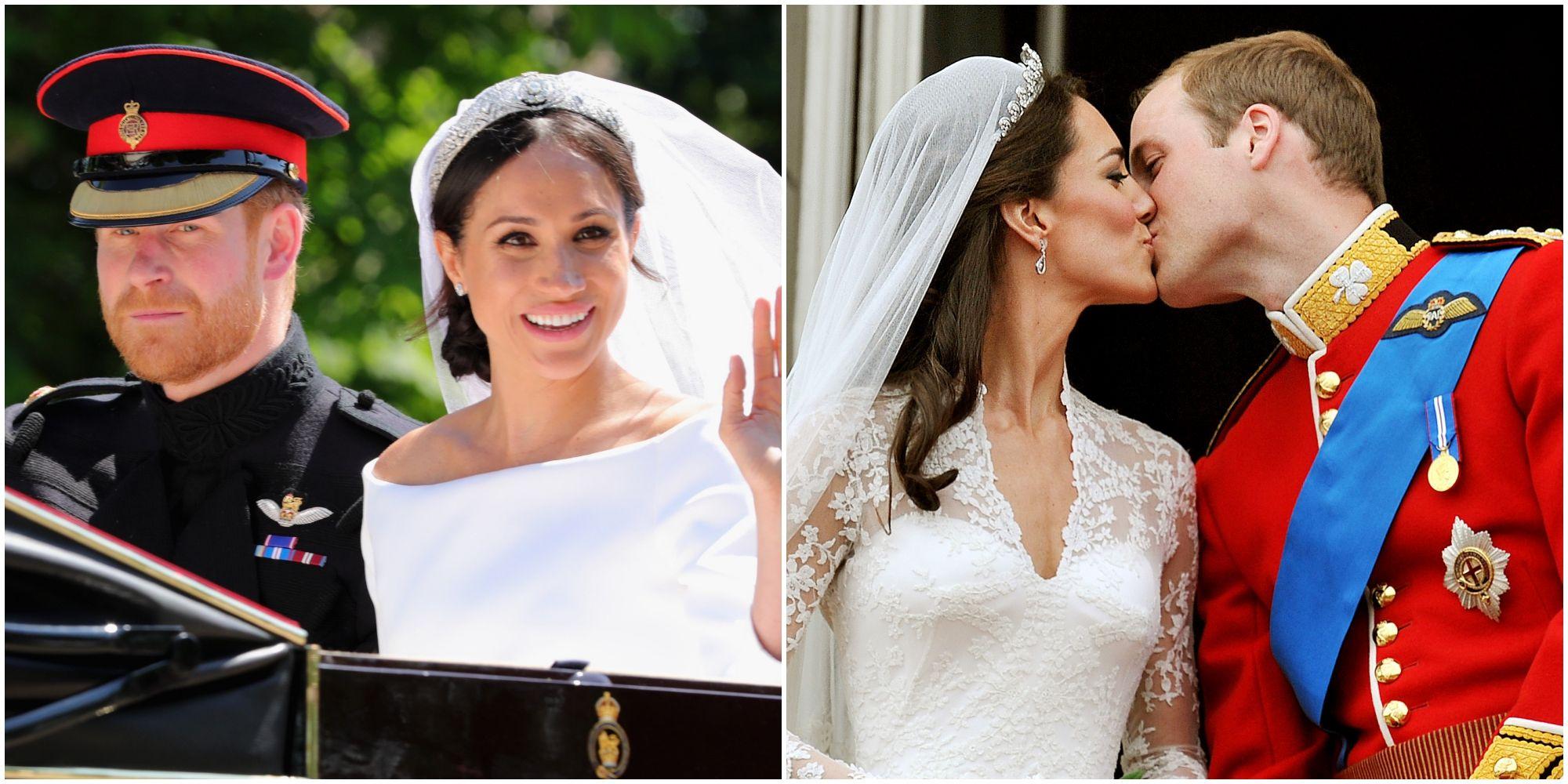 哈利王子,梅根,奢華,凱特王妃�,花費,皇室,婚禮,亮點,比較