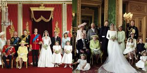 official royal wedding photos comparison