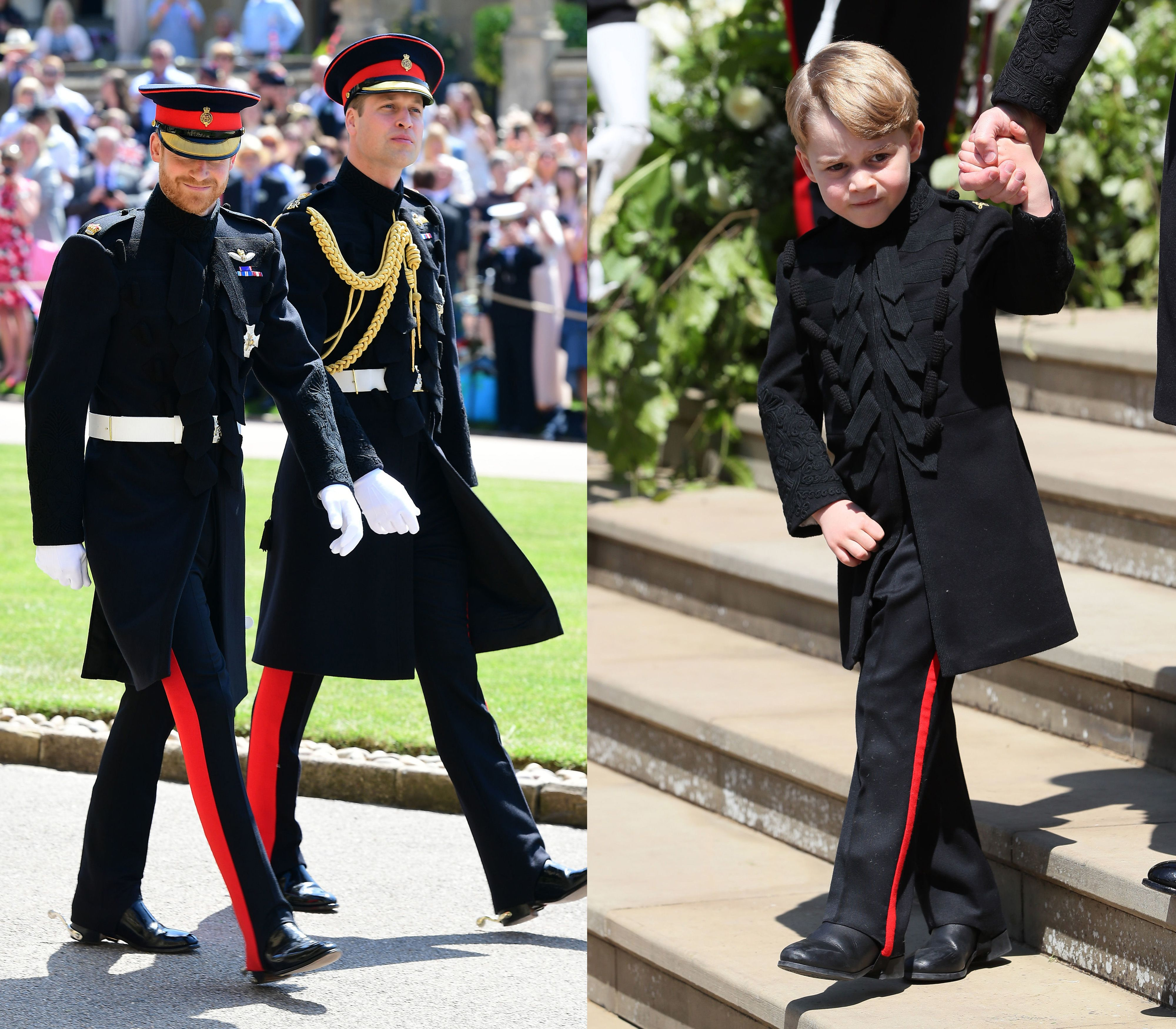 Prince George Wore A Mini Version Of William S Uniform At The Royal Wedding