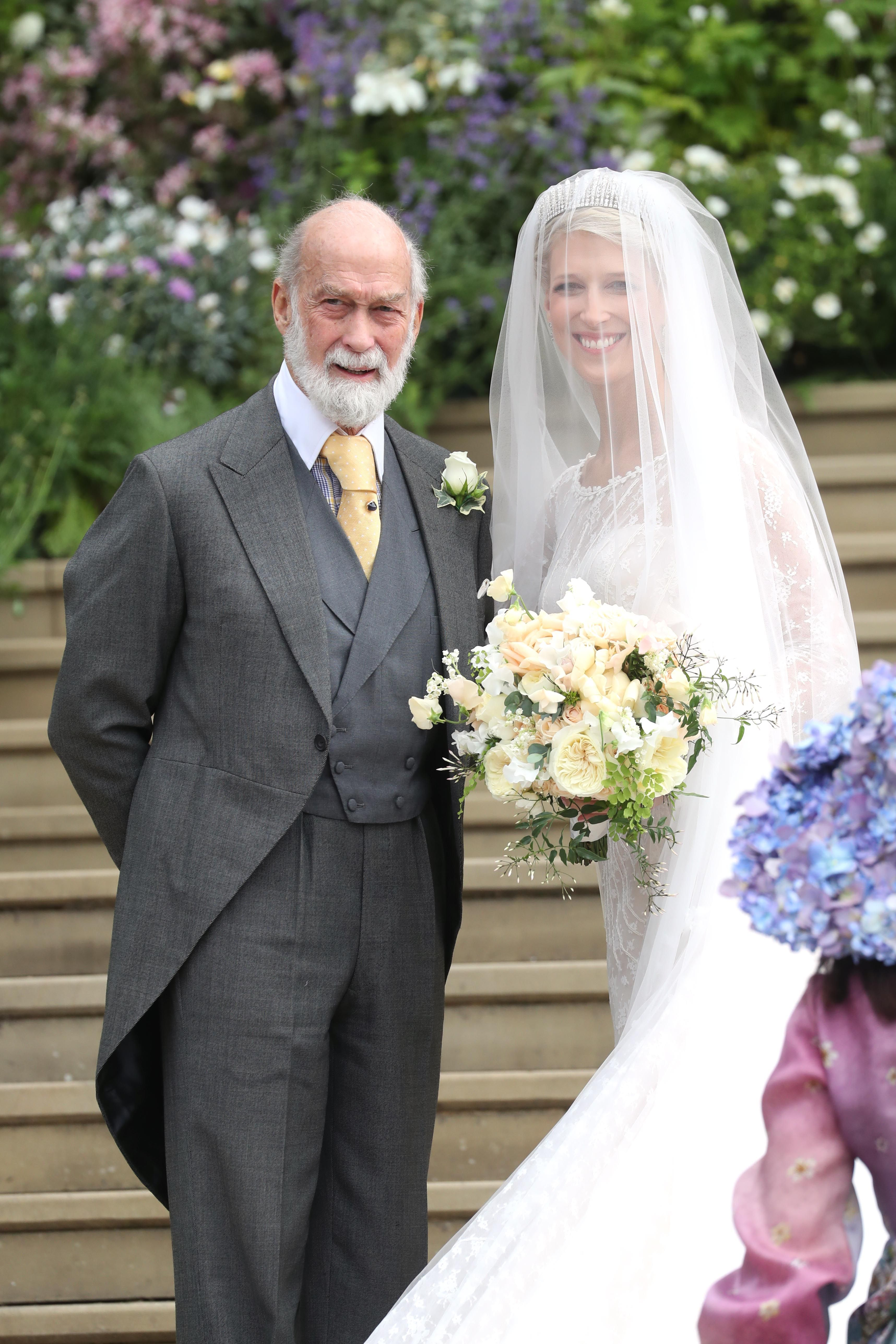Lady Gabriella Windsor's wedding reception dress pictures
