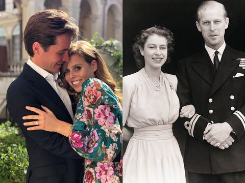 mariage de la princesse beatrice vs mariage de la reine elizabeth