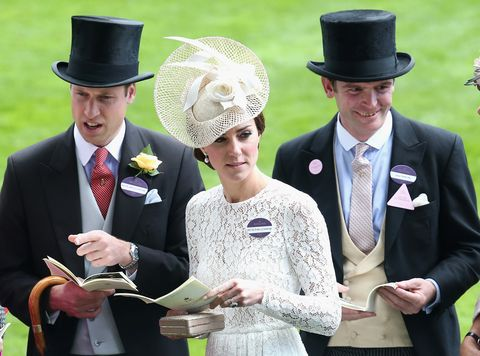 the duke and duchess of cambridge with james meade at royal ascot in 2016