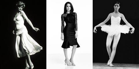 Fashion model, Clothing, Dress, Fashion, Shoulder, Standing, Black-and-white, Fashion design, Footwear, Cocktail dress,