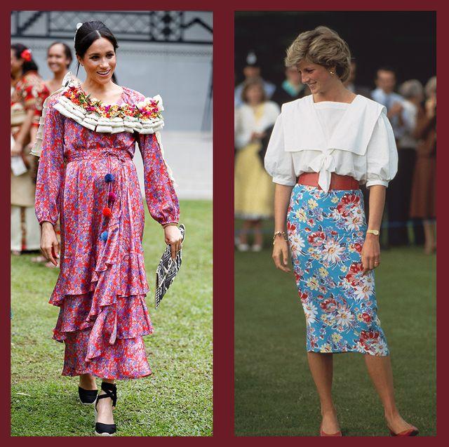 royals wearing florals