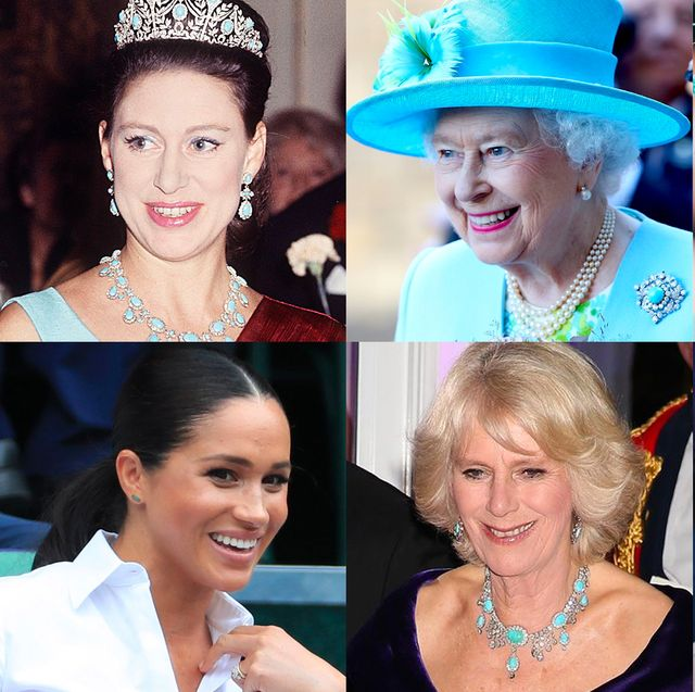 royals in turquoise