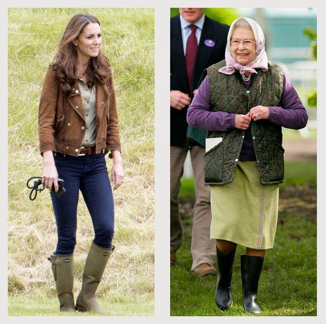 royals in wellies