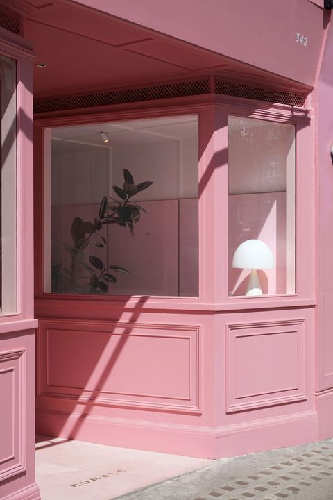 Humble Pizza is een nieuw plantaardig restaurant en het is compleet... roze!