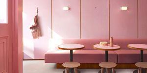 Humble Pizza is een nieuw plantaardigrestaurant en het is compleet... roze!