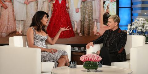 Priyanka Chopra and Ellen DeGeneres
