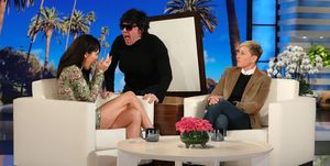 Kendall Jenner getting scared on Ellen's show