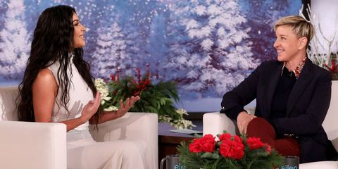 Ellen DeGeneres and Kim Kardashian