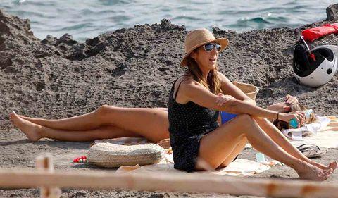 Paz Padilla tomando sol en Ibiza