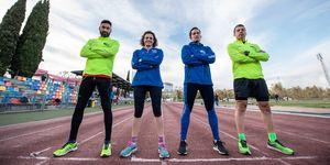 David Martínez, Raquel Moreno, Víctor Fernández y David Cabeza, de Club Corredor