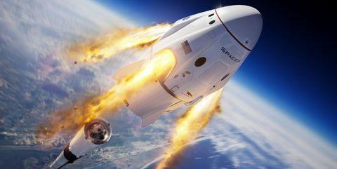 Aerospace engineering, Outer space, Spacecraft, Atmosphere, Rocket-powered aircraft, Spaceplane, Vehicle, Space, Sky, Airplane,