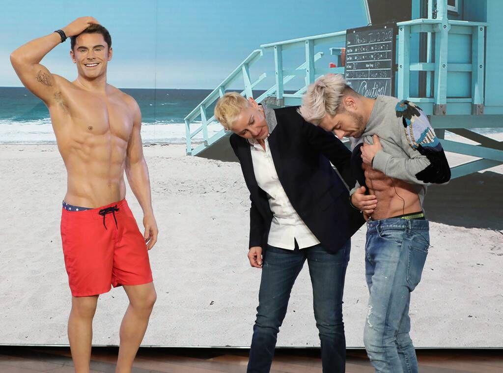 Zac Efron Flashed His 2(X)IST Boxer Briefs on 'The Ellen Show'