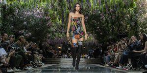 Kendall Jenner on the Versace menswear catwalk