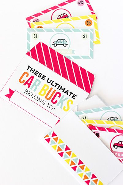 Best Road Trip Games - Printable Crush Car Bucks
