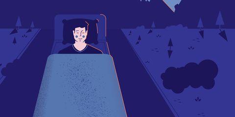 illustration of runner sleeping