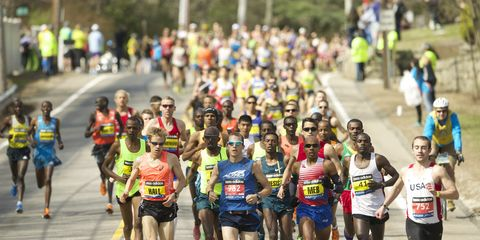 Men start the 2014 Boston Marathon