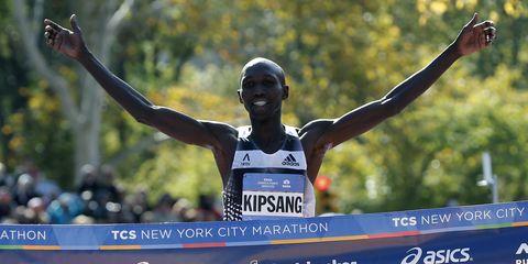Wilson Kipsang wins the 2014 New York City Marathon