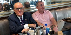 FILE PHOTO: U.S. President Trump's lawyer Rudy Giuliani has coffee with Russian born businessman Parnas at Trump Hotel in Washington