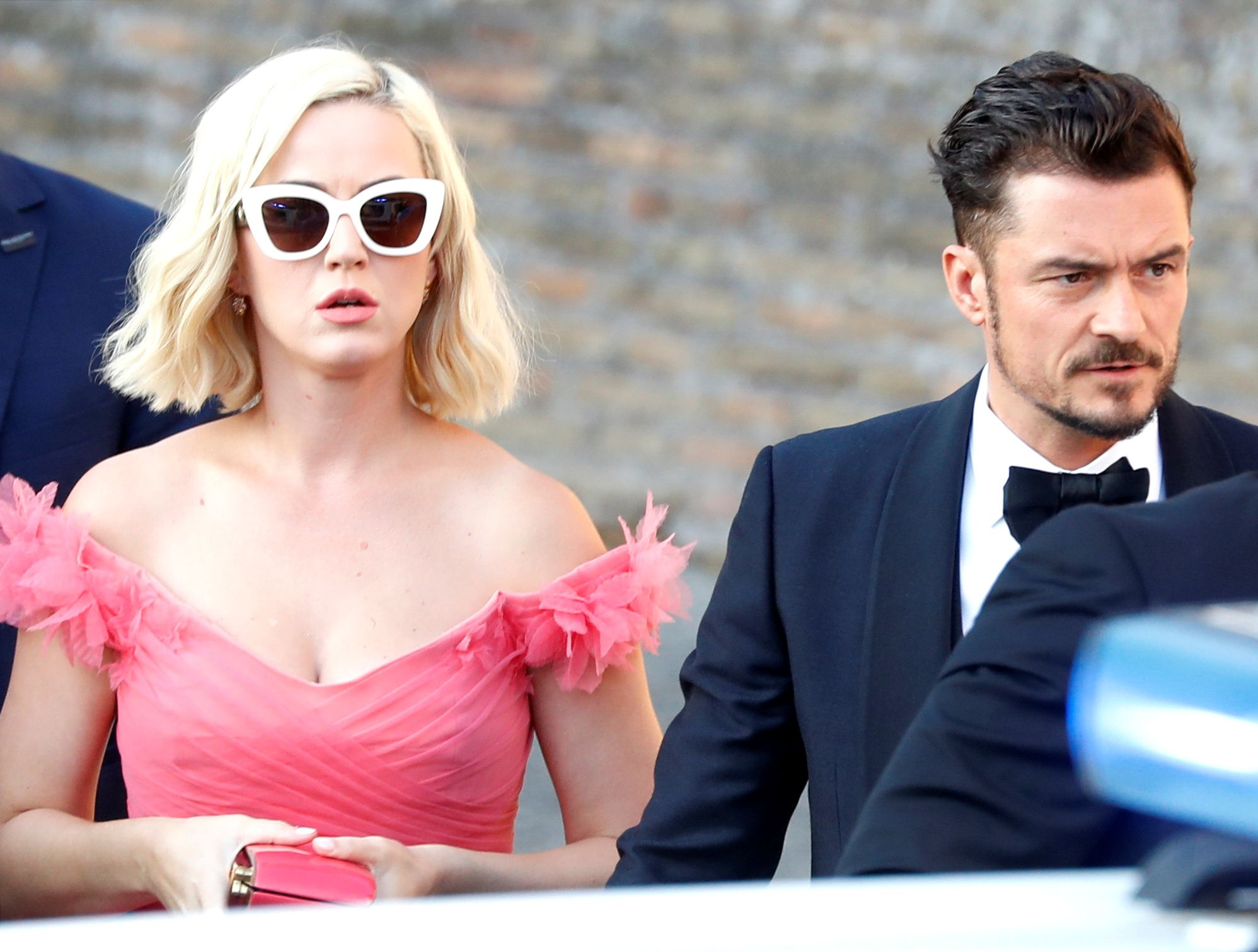 Katy Perry Channeled Barbie in a Pink Dress With Orlando Bloom at Misha Nonoo's Wedding