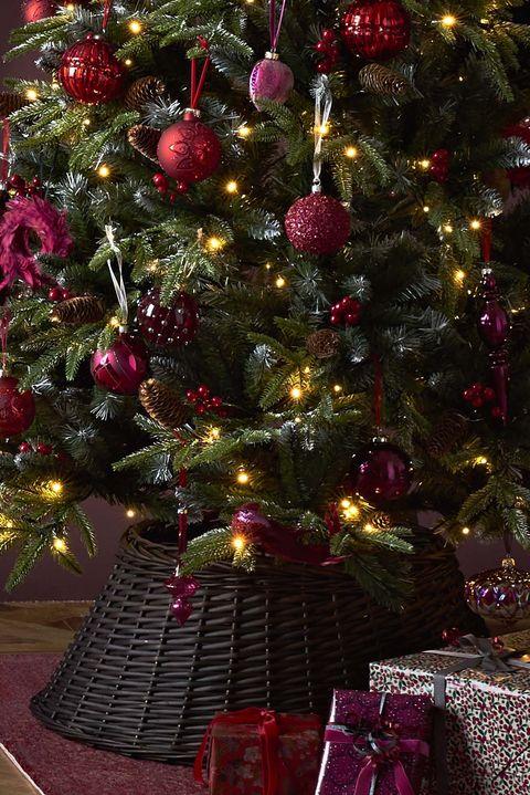 Wicker Christmas Tree Skirt - John Lewis Ruby Christmas Tree Decorations